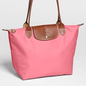 Pink Long Champ Tote Bag